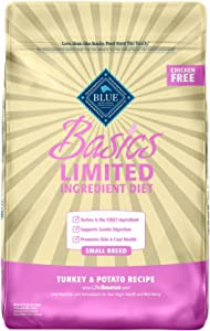 Blue Buffalo Basics Limited Ingredient Diet, Natural Adult Small Breed Dry Dog Food, Turkey & Potato 11-lb