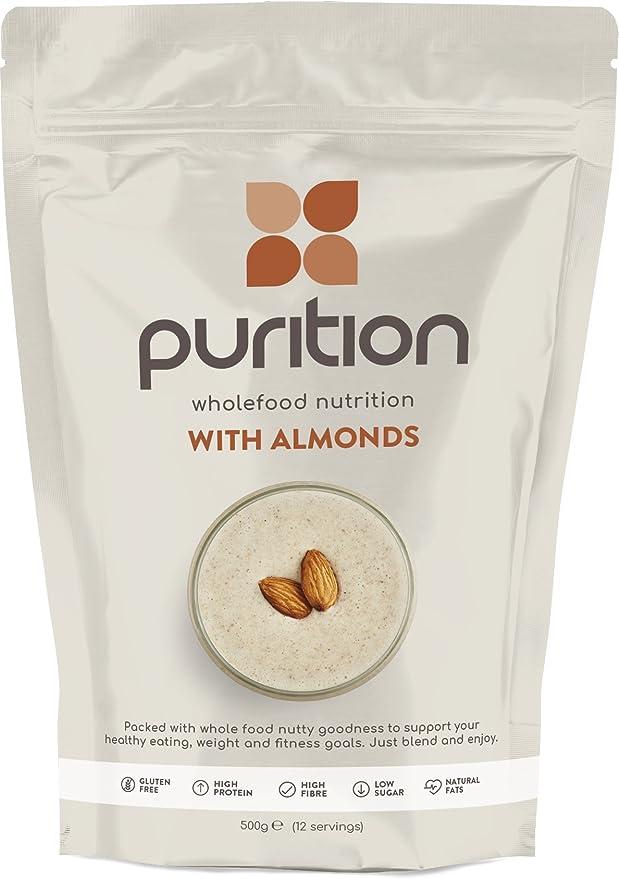 Purition Batido de proteínas de Almendras (500g). Batido para el desayuno