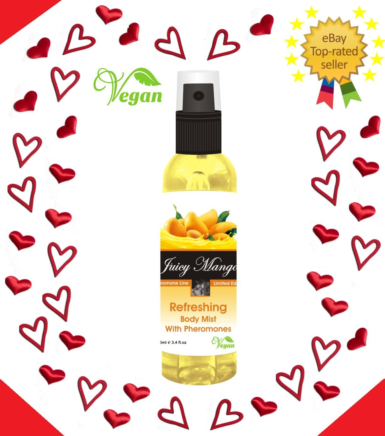 100% Vegan Juicy Mango Refreshing body mist with pheromones 100ml for her sexual attraction Pherolec Global Ltd