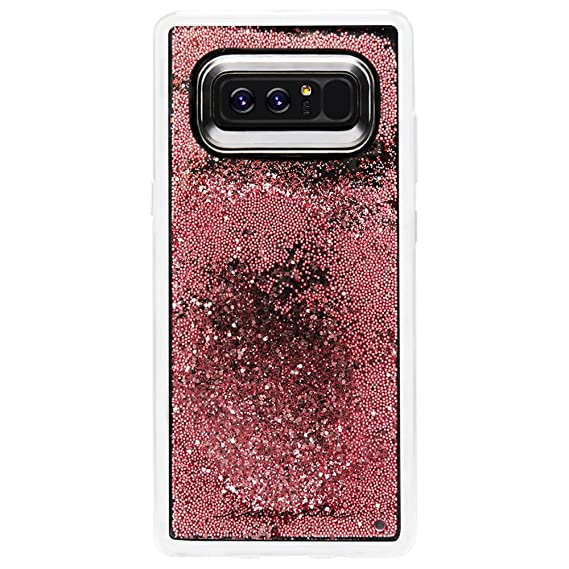 buy online 32fcd e3a92 Case-Mate Note 8 Case - WATERFALL - Rose Gold - Cascading Liquid Glitter -  Military Drop Protection - Protective Design for Samsung Galaxy Note 8 - ...