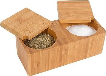 Charmant Trademark Innovations 7.1u0026quot;L X 3.1u0026quot;W Bamboo Salt And Pepper Box  Kitchen Accessory