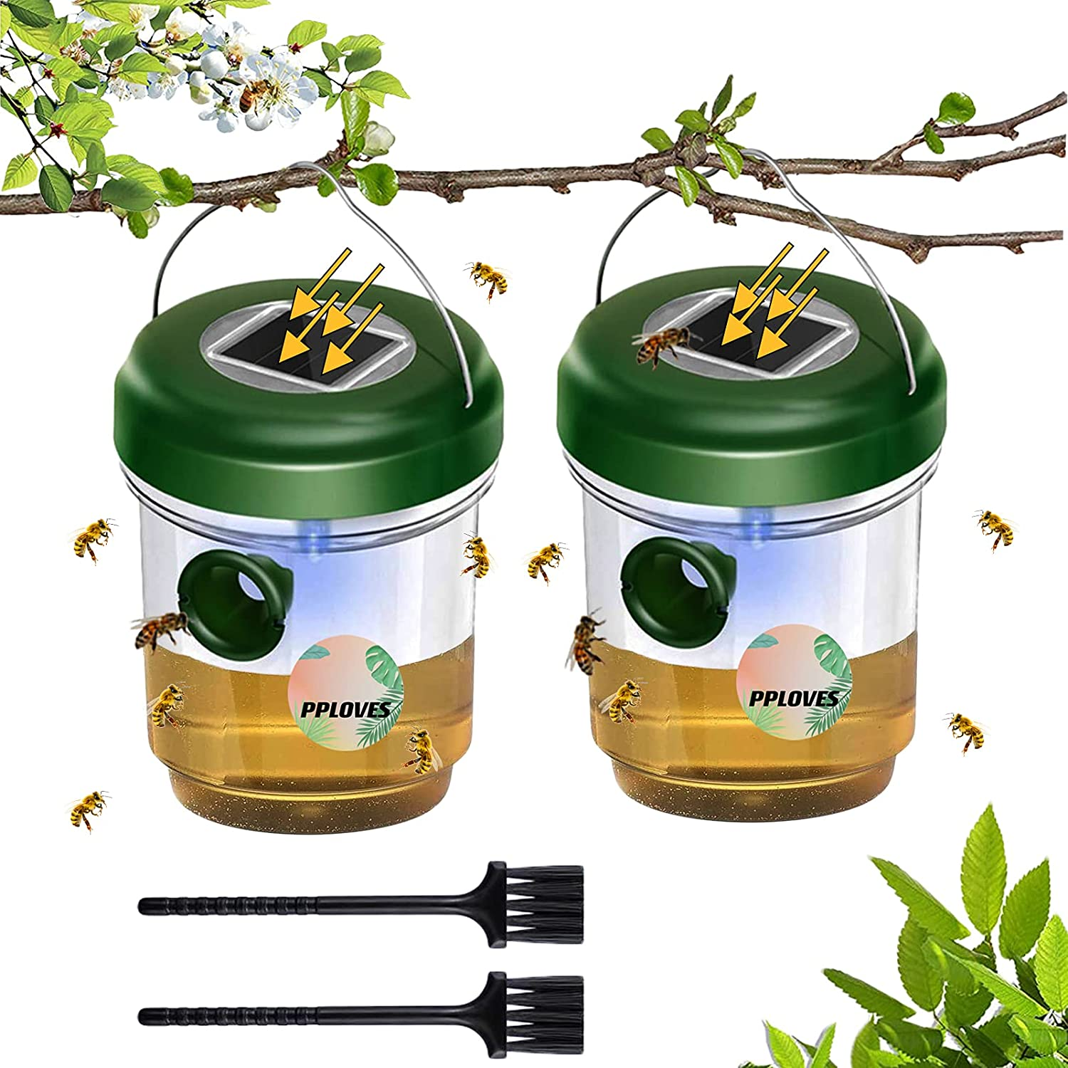 Wasp Trap Outdoor-2 Pack-Solar Energy