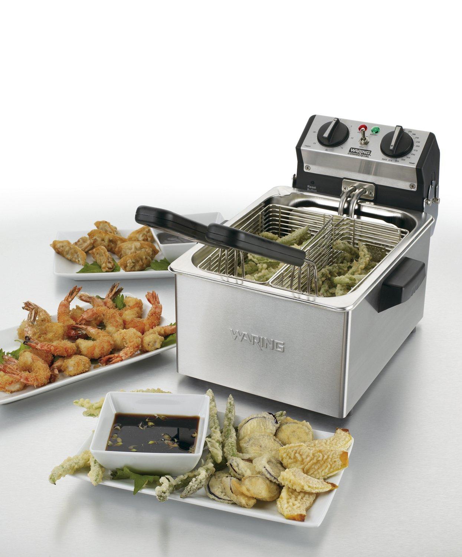 Amazon.com: Freidora eléctrica compacta Waring Commercial ...