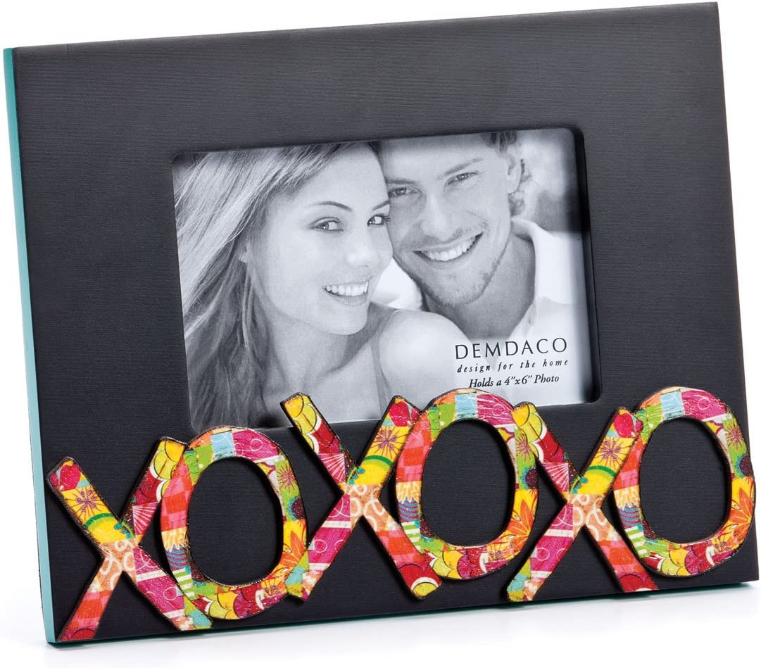 DEMDACO Colorful Devotions XOXOXO Sculpture Frame, 4 by 6-Inch