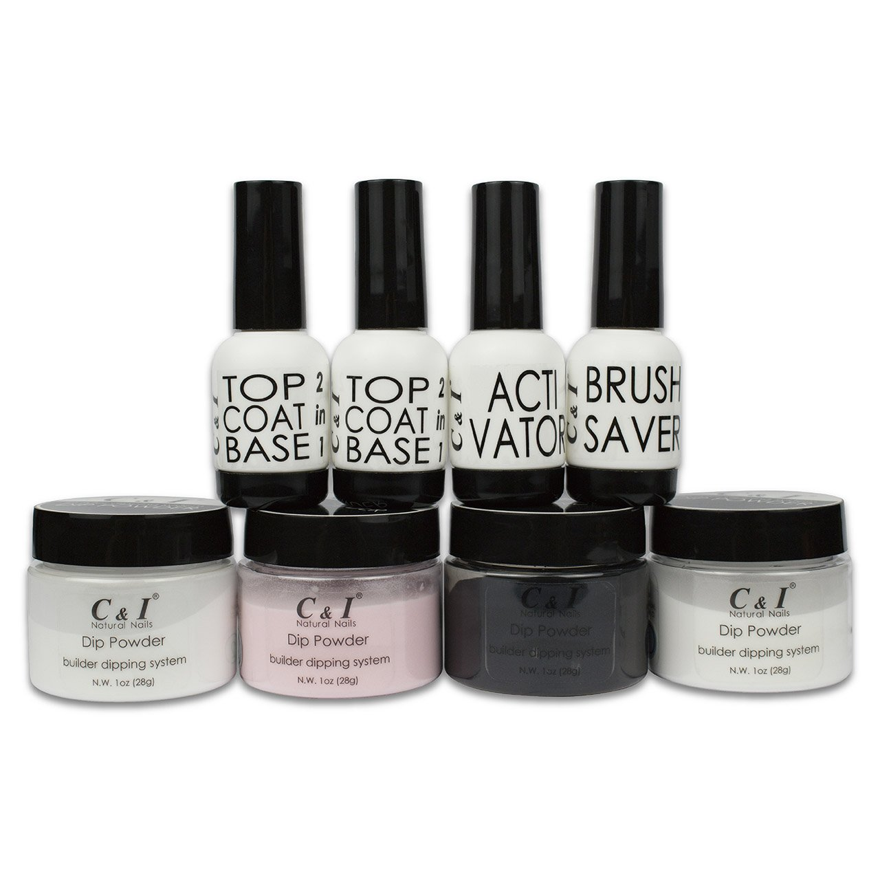 C & I Dipping Powder Builder Color System Set Fulei Trading