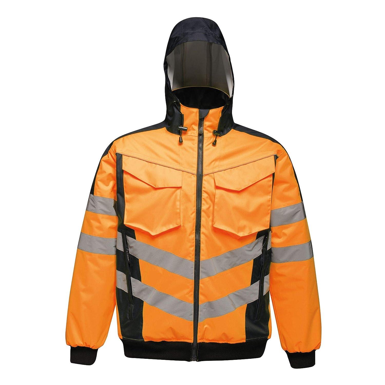 Professional Men/'s Hi-Vis Waterproof Insulated Reflective Work Jacket Orange