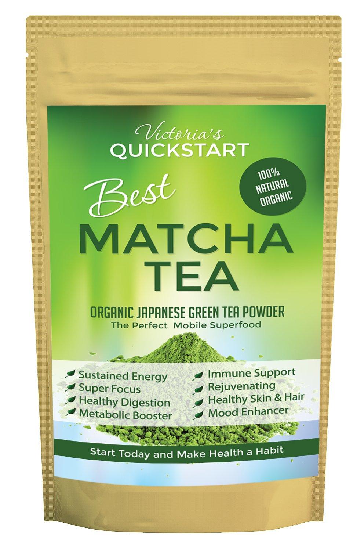 Best Matcha Tea Powder Fat Burner Flow State Energy Mood Brain Food Memory, Focus Paleo Ketogenic Glycemic Diets Antioxidants Includes $19 Superfood Organic Matcha Tea E-book Free!