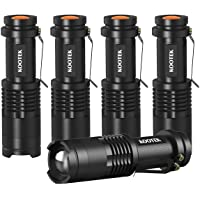 5-Pack Kootek 300 Lumens Tactical Mini LED Flashlight or Kids Child Camping Cycling Hiking Emergency Torch Light