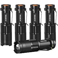 5-Pack Kootek 300 Lumens Tactical Mini LED Flashlight