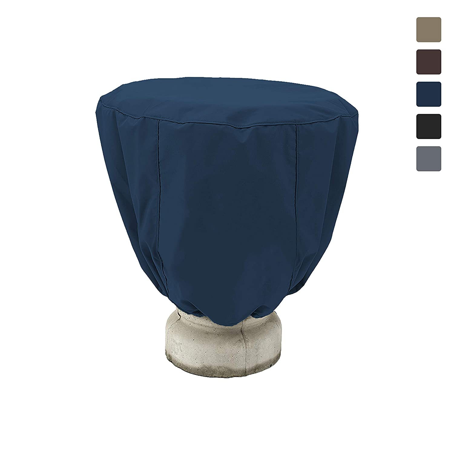 Bird Bath Cover 18 Oz Waterproof - Customize Cover with Any Size - 100% UV Weather Resistant Outdoor Cover with Elastic and Drawstring for Snug Fit (32' Dia x 24' H, Blue)