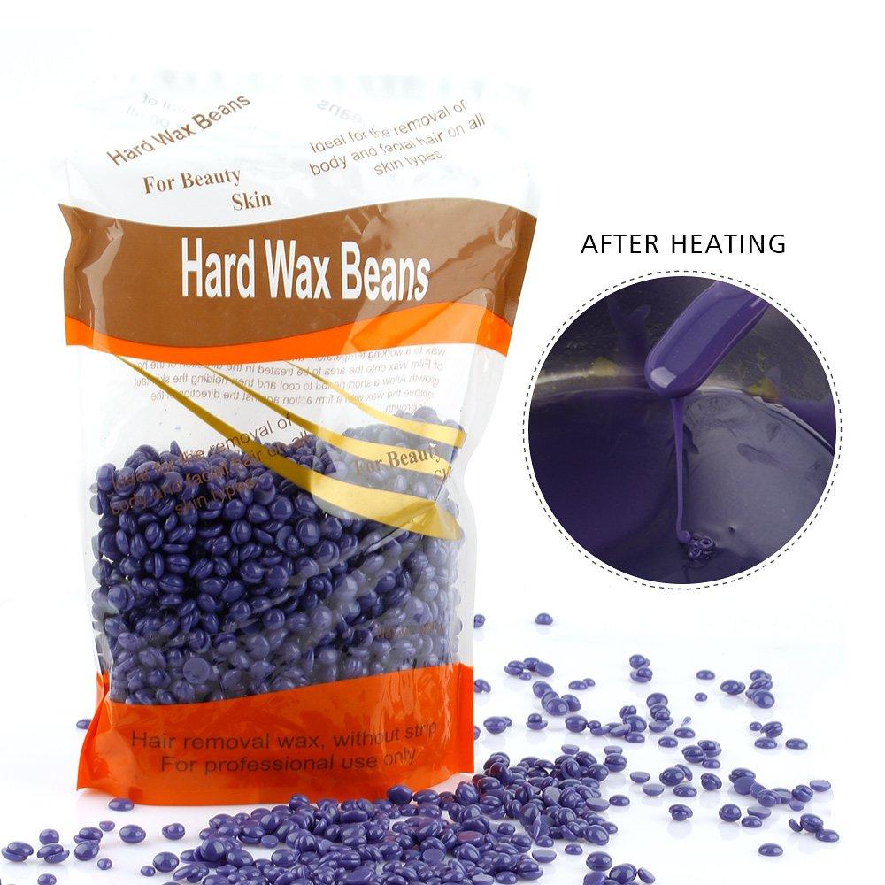 Ms.Dear Hair Removal Wax Beans for Face, Underarms, Brazilian/bikini 10 oz, Hard Body Wax Beads (LAVENDER)