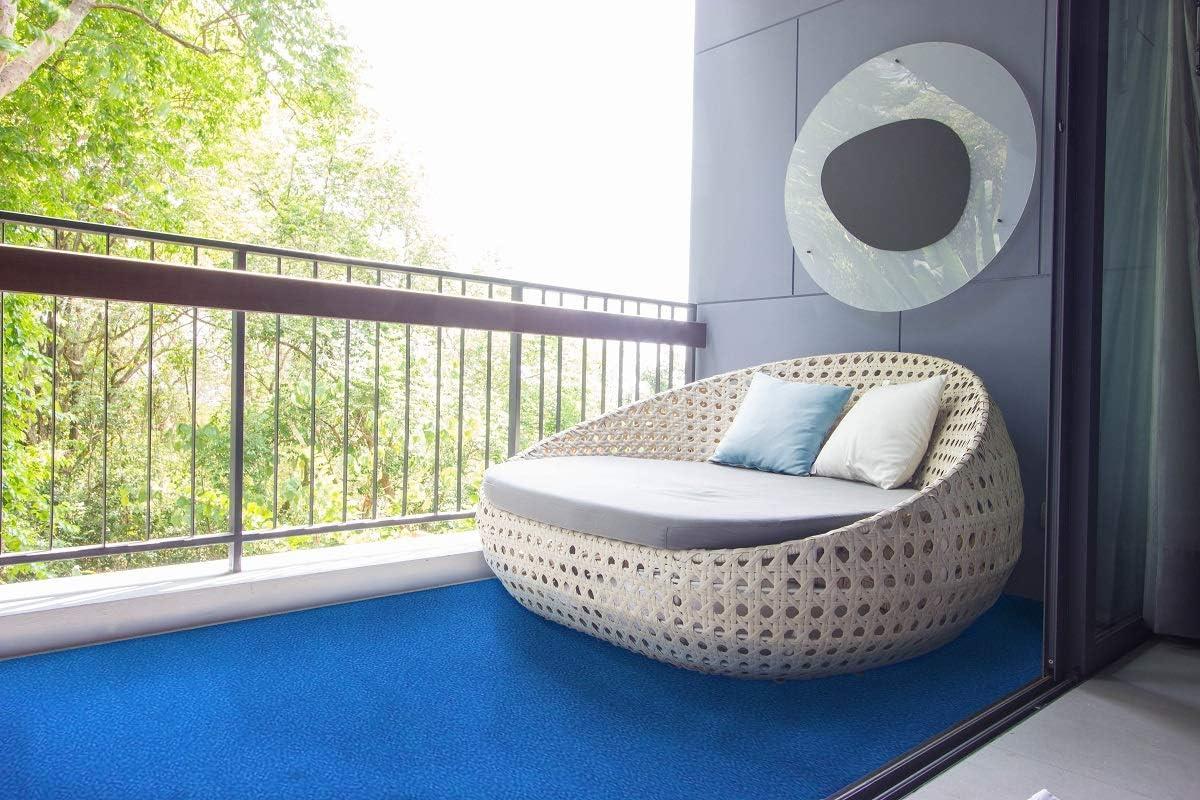 Farbe:Blau Rot Blau Grau Braun Beige oder Anthrazit Balkon Terrasse Camping Meterware Gr/ö/ße:400 x 350 cm wasserdurchl/ässig havatex Rasenteppich Kunstrasen mit Noppen 1.550 g//m/²
