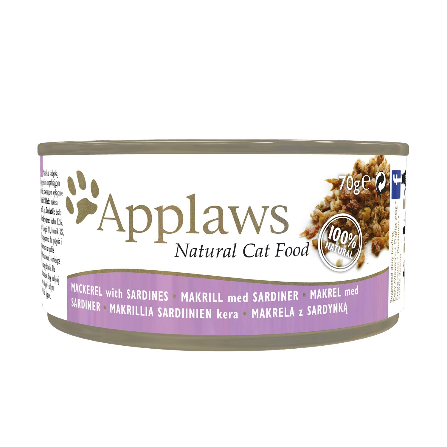 Applaws Cat Pacific Mackerel and Sardine 70g(Case Of 24)