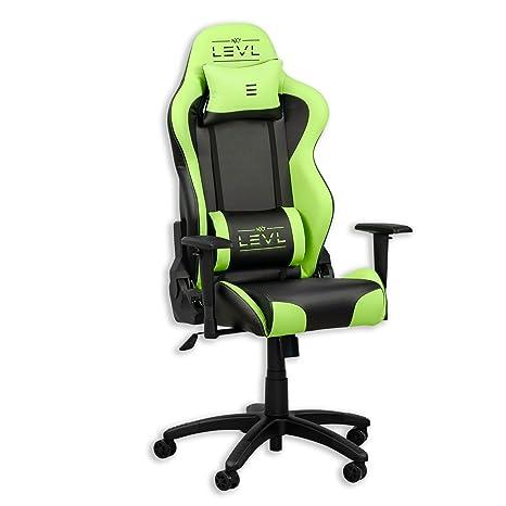 Marvelous Nxt Levl Gaming Chair Heavy Duty Neck And Lumbar Cushions Green Black Machost Co Dining Chair Design Ideas Machostcouk