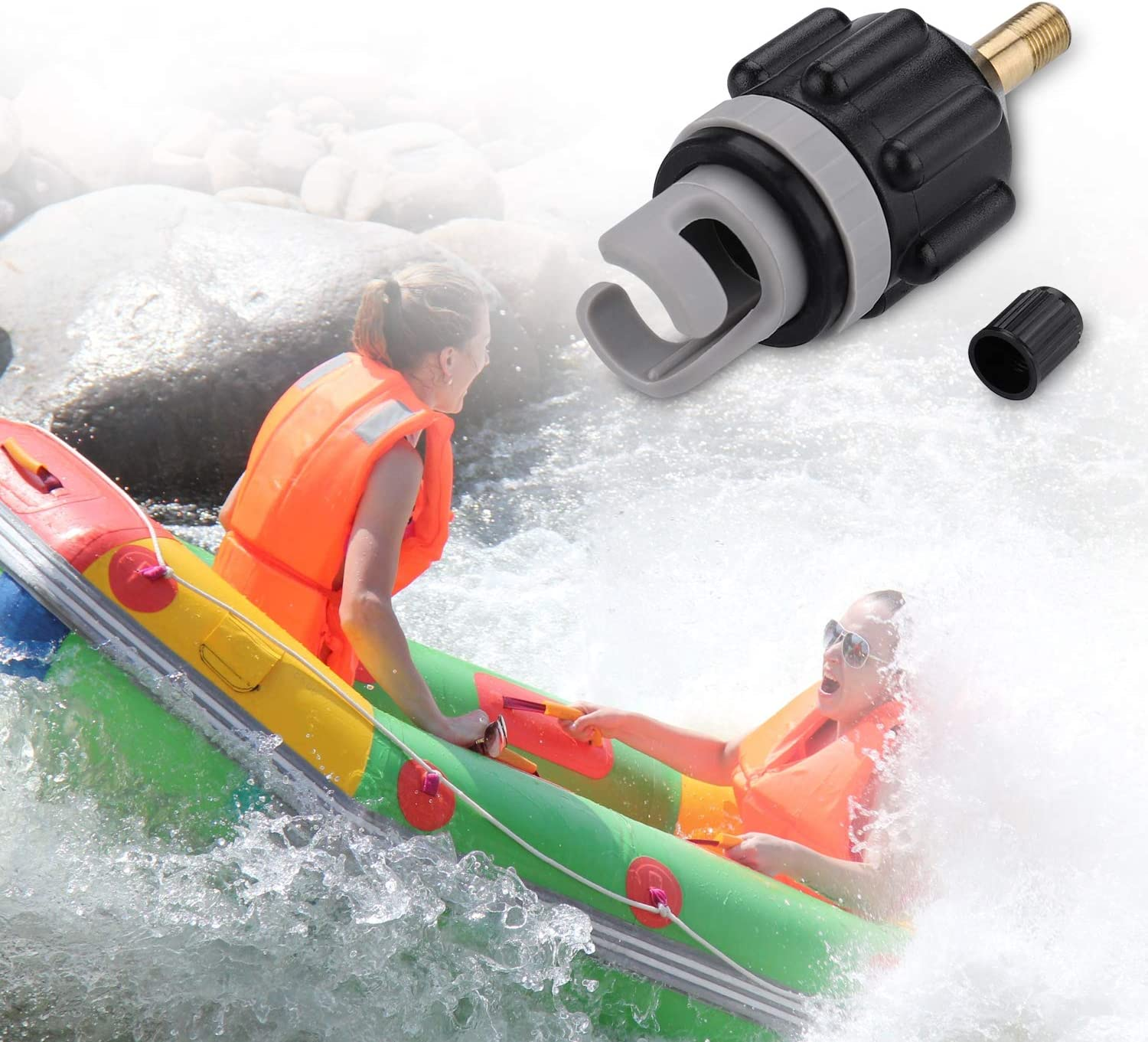 Air Pump Converter For Boat Dinghy Water Inflatable Boat Air Valve Adapter