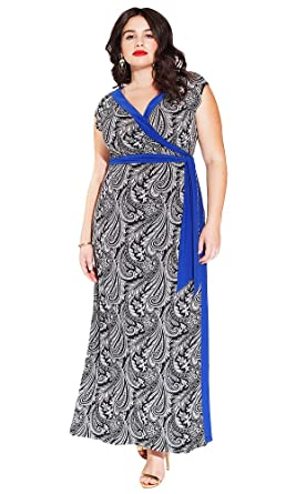00477c06765 IGIGI Women s Plus Size Naples Maxi Wrap Dress in Black Cachemire 14 ...
