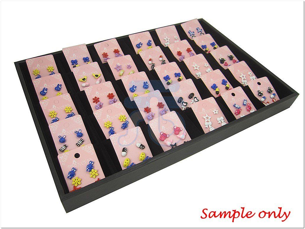 Black Velvet 30 Compartment Counter Display Case / Tray / Box /Organizer / Holder for Jewelry Retail Shop