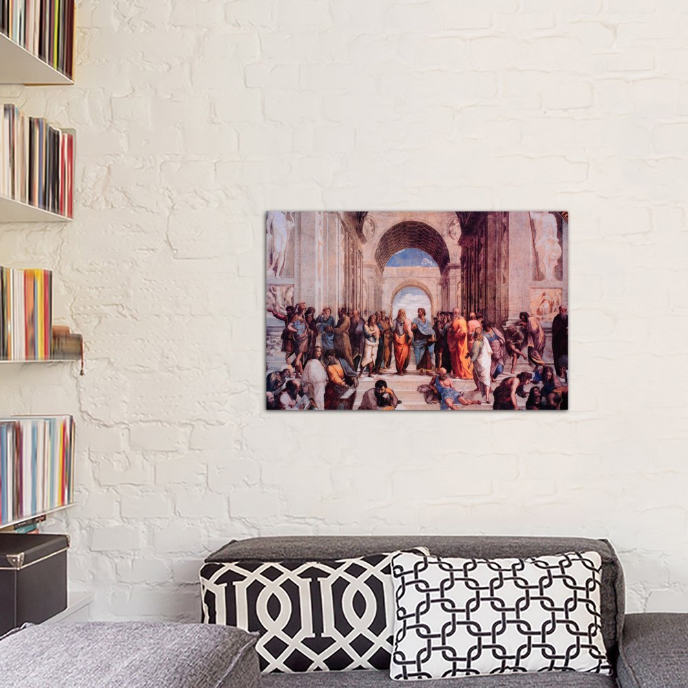 iCanvasART 3-Piece School of Athens Canvas Print by Raphael 0.75 by 60 by 40-Inch