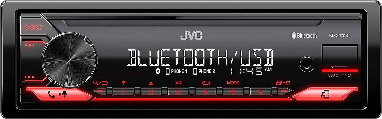 JVC KD-X270BT Digital Media Receiver Featuring Bluetooth, Front USB, JVC...