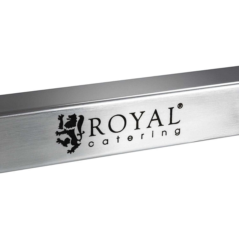 Royal Catering Carro Cocina Carrito de Servicio con Ruedas RCSW 2 (2 Estantes, Carga 160 kg, Distancia entre estantes 62 cm, Acer inoxidable): Amazon.es: ...