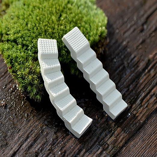 CoscosX - Escaleras de resina en miniatura, adorno para jardín de hadas, micro paisaje, escalera, decoración para el hogar, jardín, macetas, bonsai: Amazon.es: Hogar