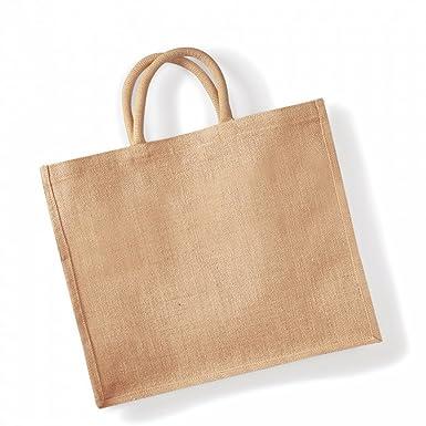 abd3ca68cebfc Westford Mill Jumbo Jute Shopper Bag (29 Litres) (One Size) (Natural ...