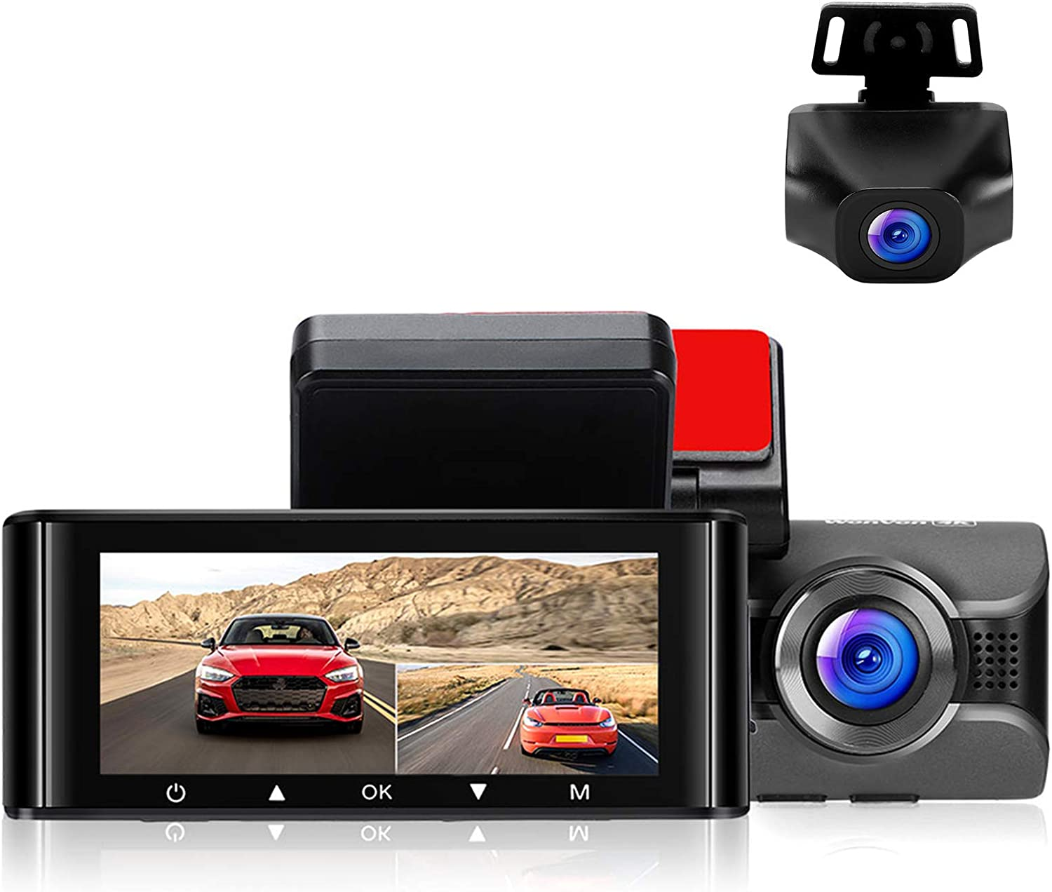 Amazon Com Dash Cam For Cars 4k Front Dashboard Camera And 1080p Rear Dashcam W4k Wifi Driving Recorder With 3 16 Ips Screen Night Vision Gps Parking Mode G Sensor Wdr Loop Recording Super Capacitor