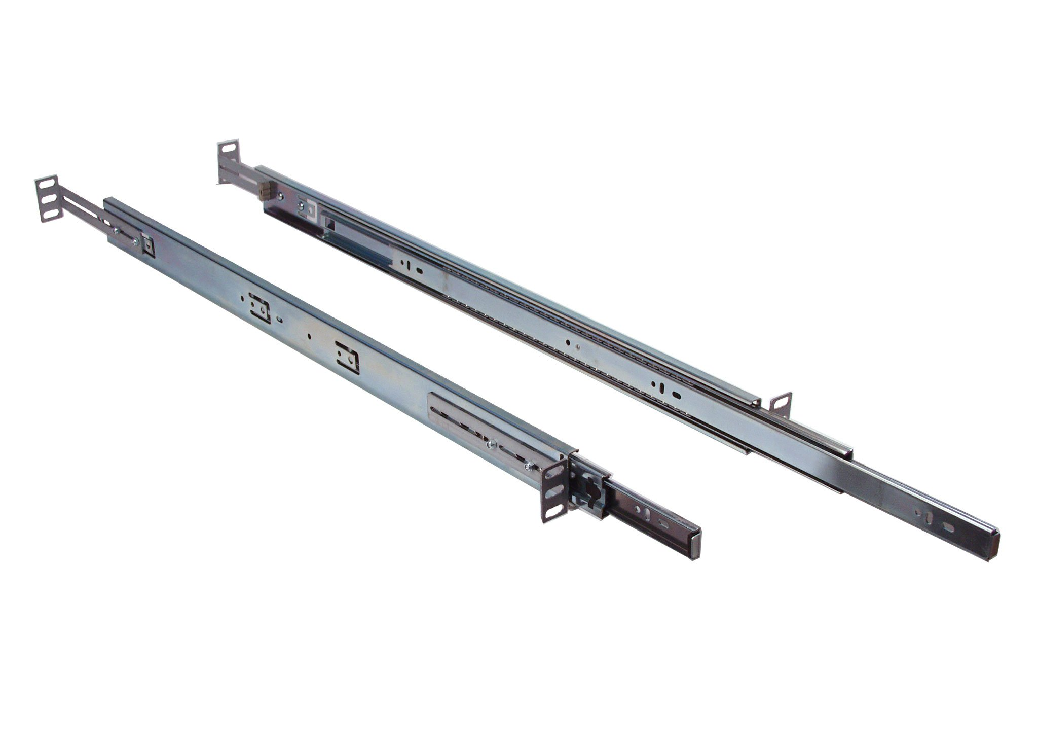 1U Universal Ball Bearing 26'' Sliding Rail comes with front and rear adjustable depth rackmount brackets for standard 19'' or 23'' EIA310 server rack