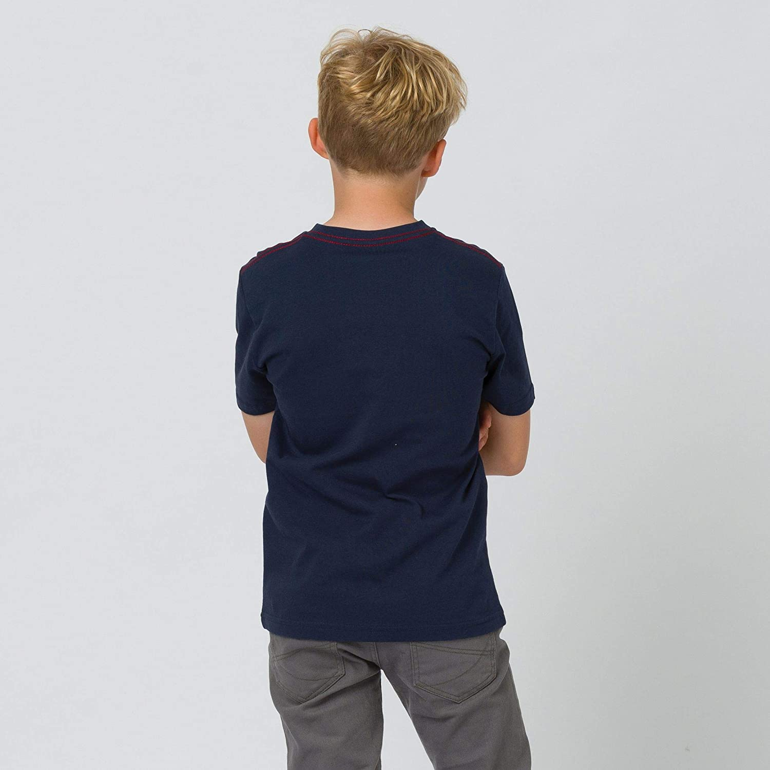 Navy Animal Boys Tabo Graphic Short Sleeve Crew Neck T-Shirt