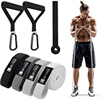 CORTNOE Fabric Long Resistance Bands - Pull Up Bands Pull Up Assistance Bands Set of 10 Long Workout Bands with Door…