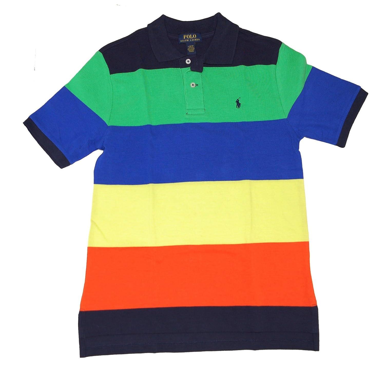 Ralph Lauren Boys Striped Polo Shirt Navy Multi