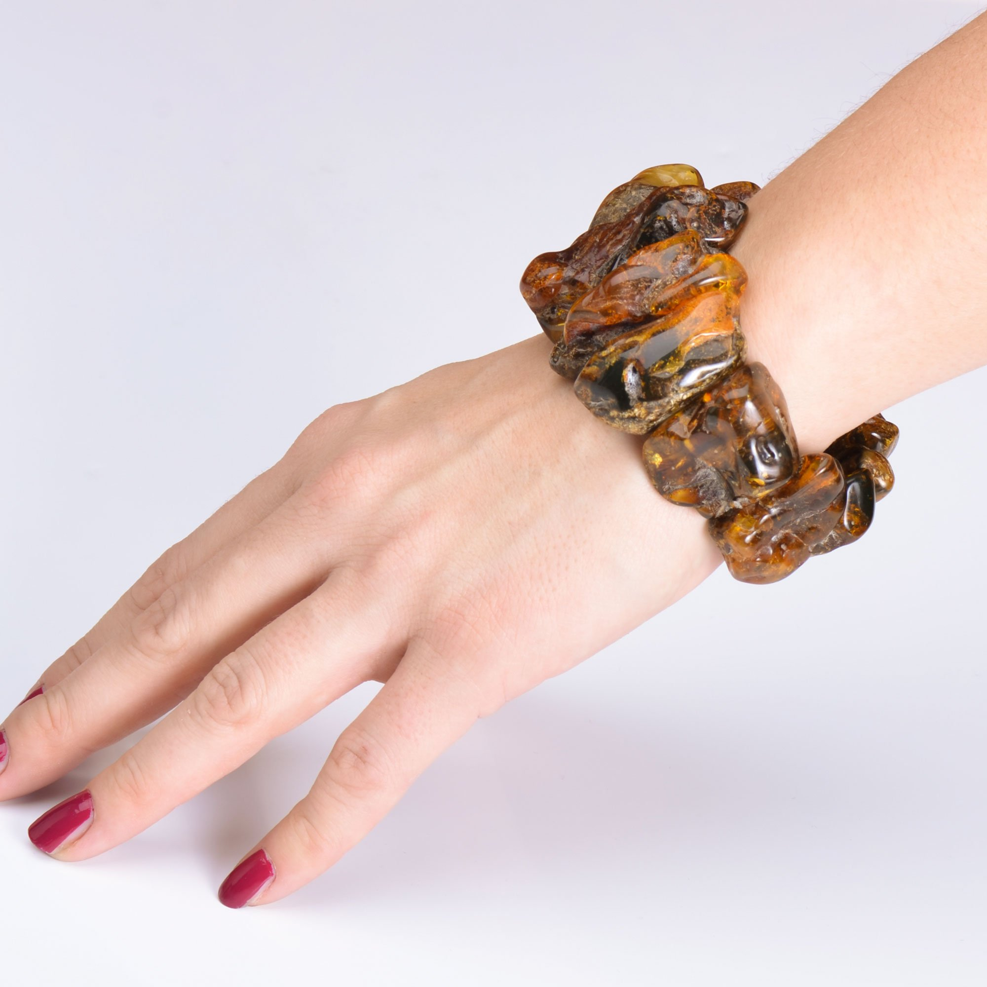 Massive and Exclusive Amber Bracelet - Certified Vintage Amber Bracelet - Unique Amber Pieces - One Item Only by Genuine Amber (Image #5)