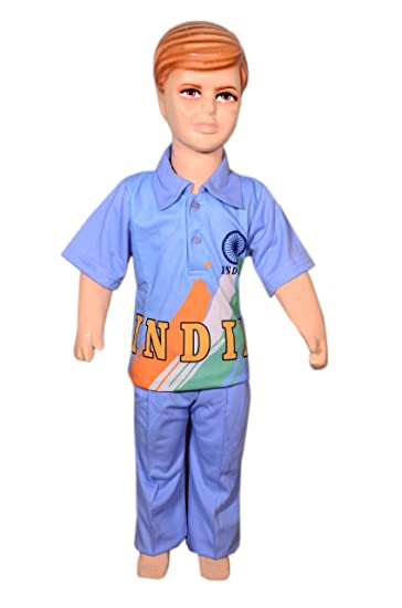 d70a31c3a Buy ANMOL DRESSES Indian Cricket Team Fancy Dress for Kids (Multicolour, 7  Years) Online at Low Prices in India - Amazon.in