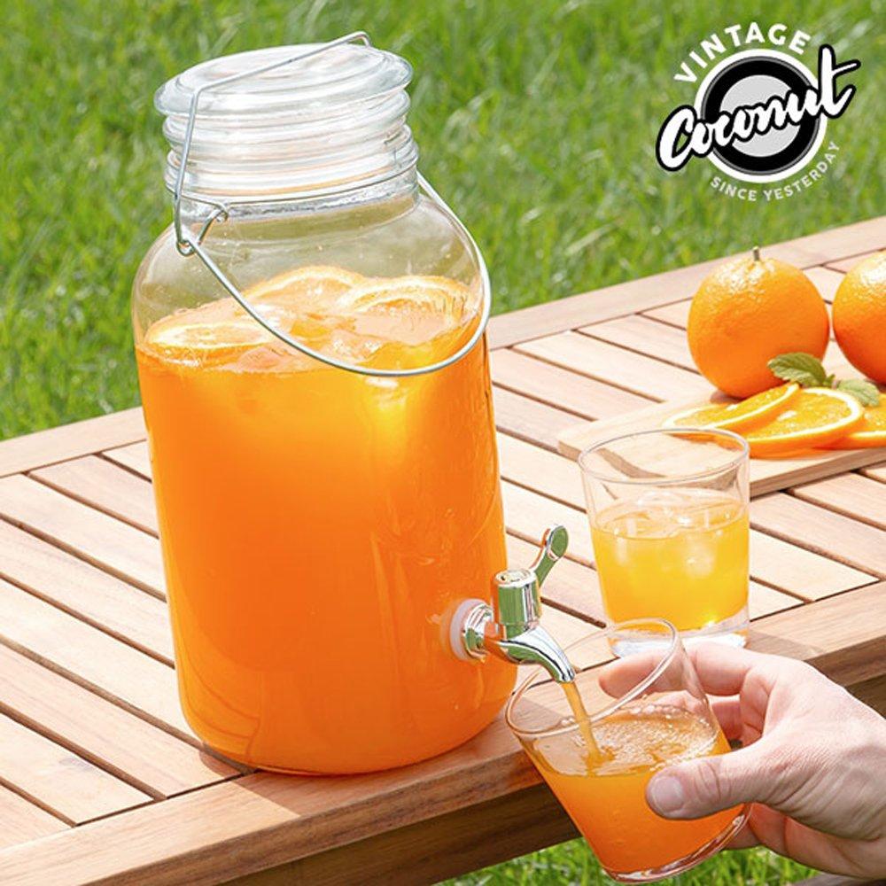 vetro 8 litri Erogatore barattolo con spina per bevande
