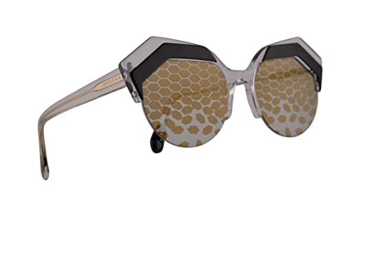 89d801f98a1 Amazon.com  Bvlgari BV8203 Sunglasses Top Black On Crystal w Grey ...