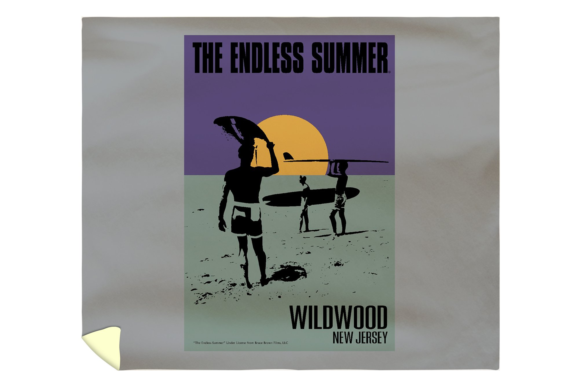 Wildwood, New Jersey - The Endless Summer - Purple and Teal - Original Movie Poster (88x104 King Microfiber Duvet Cover)