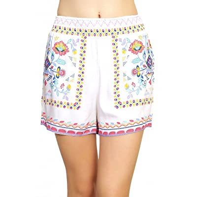 ToBeInStyle Women's Floral Print Shorts | .com