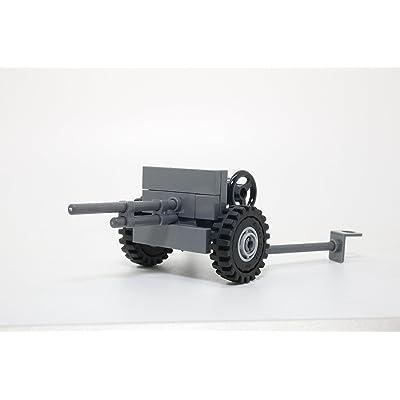 Modern Brick Warfare WW2 American 37mm M3 Anti-Tank Gun Custom Kit: Toys & Games