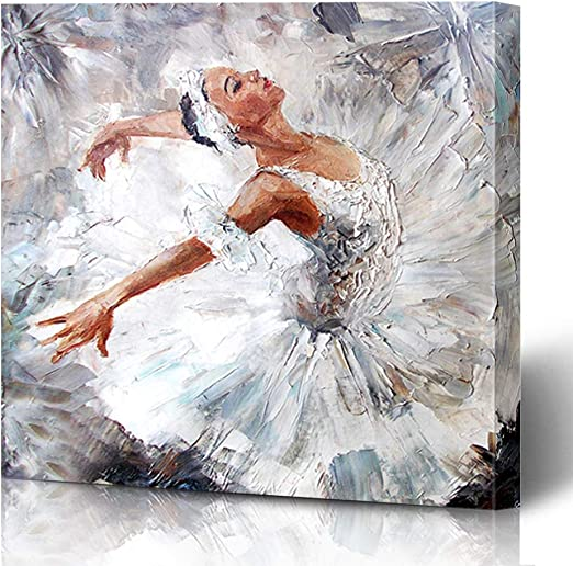 BALLERINA SHOES BALLET DANCER MODERN BOX CANVAS PRINT WALL ART PICTURE