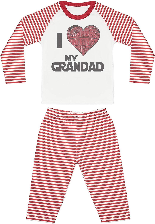 Baby Nightwear I Love My Grandad Star Heart Baby Pyjamas Baby Gift