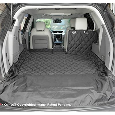 4Knines SUV Cargo Liner for Fold Down Seats - 60/40 Split and armrest Pass-Through fold Down Compatible - Black Small - USA Based Company : Pet Supplies