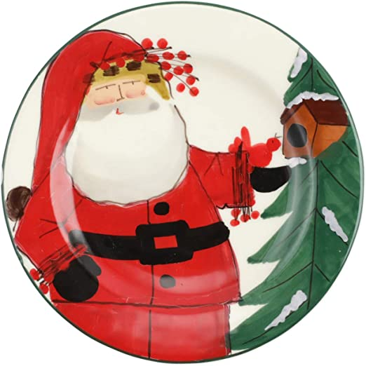 New 2020 Christmas Vietri Amazon.| Vietri Old St. Nick 2020 Limited Edition Salad Plate