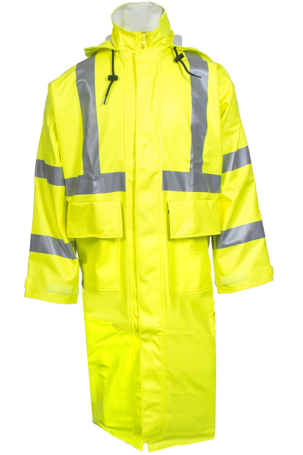 National Safety Apparel R31RL06XL Arc H2O FR Trench Coat, Class 3, X-Large, Fluorescent Yellow