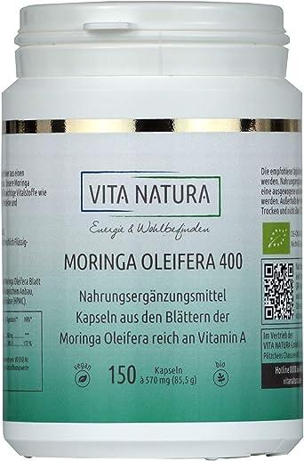 Moringa oleifera 150 Cápsulas de 400mg