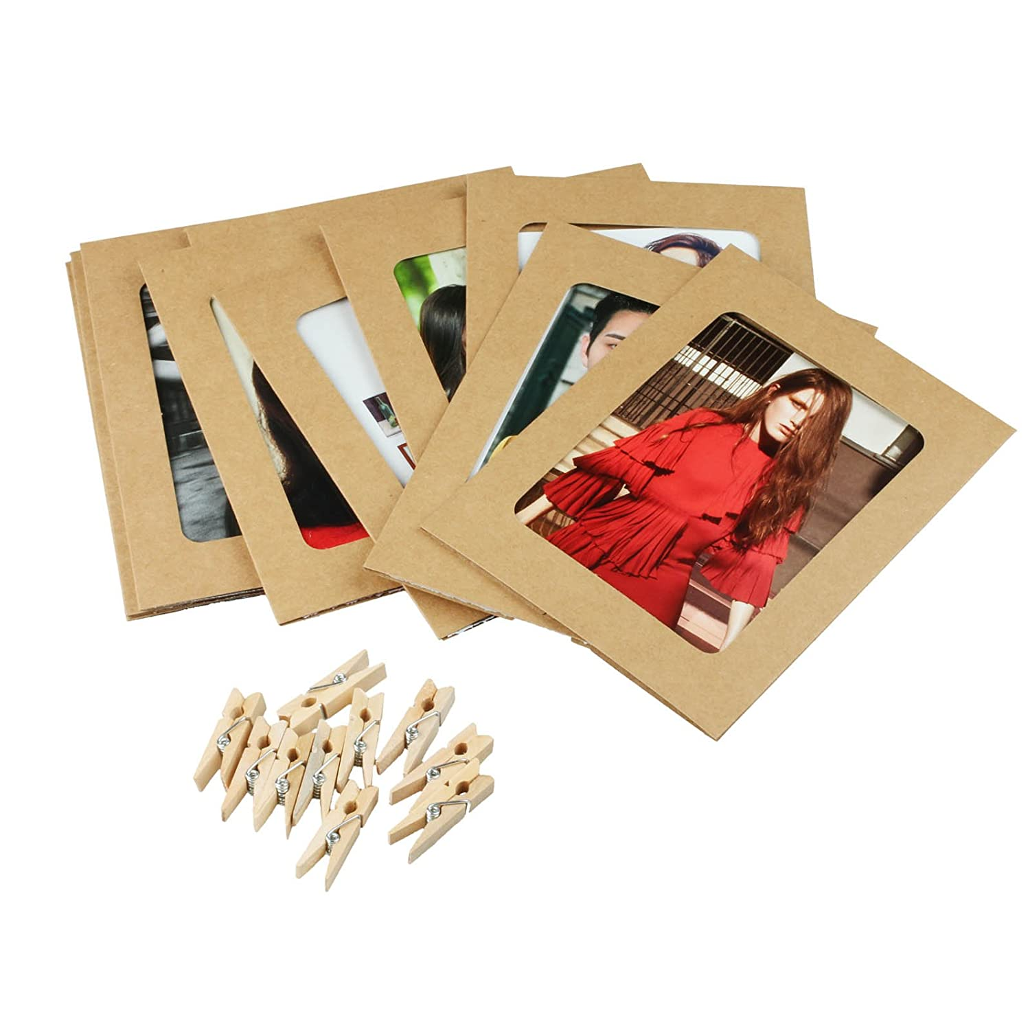 Amazon Vlovelife Set 10pcs Paper Picture Frames with Clips
