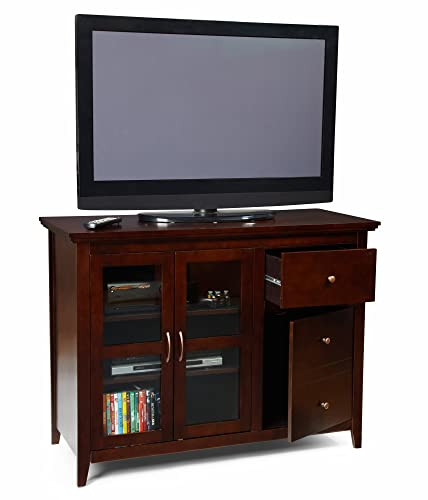 Convenience Concepts Designs2Go Sierra Highboy TV Stand for Flat Panel TV s Up to 50-Inch or 100-Pounds, Rich Espresso