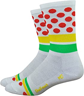 product image for DeFeet AirEator 6in Tour de France Leaders Jerseys Cycling/Running Socks - AIRTTDFJ (Tour de France Leaders Jerseys - S)