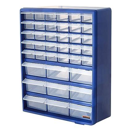 Bond Hardware 39 cajón azul multi Herramientas DIY Caja de almacenamiento de cajón organizador almacenamiento Tuercas