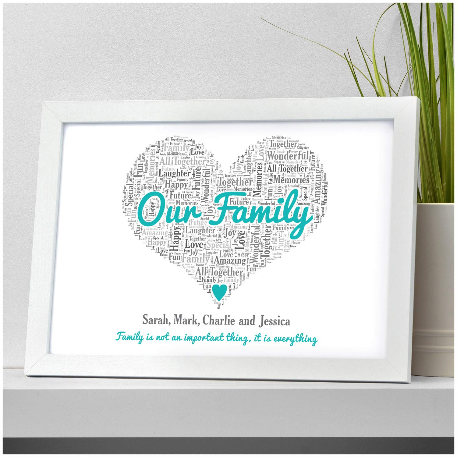 aa57000089e30 Our Family Personalised Family is Everything Quote Gifts Christmas Birthday  Mum Dad Parents Present - A5
