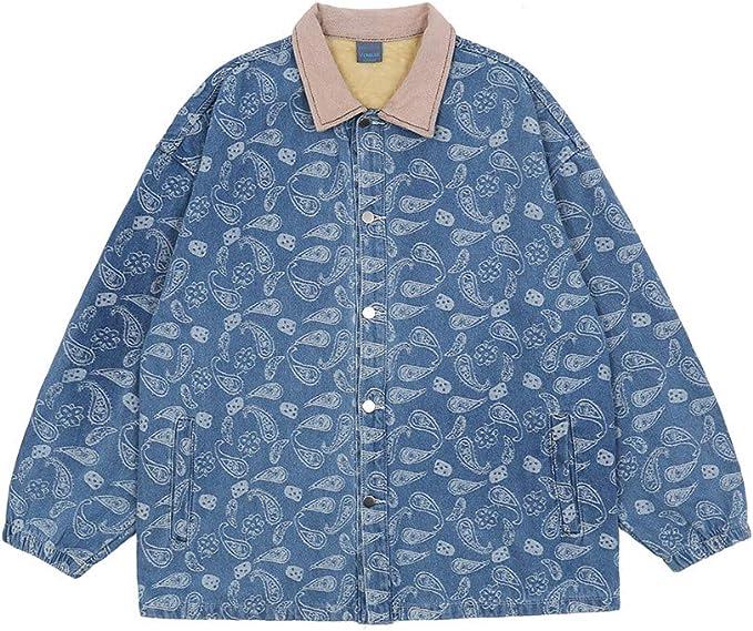 ペイズリー柄 デニムジャケット 裏ボア メンズ ヴィンテージ 暖かい ジャケット カジュアル 秋冬 アウター